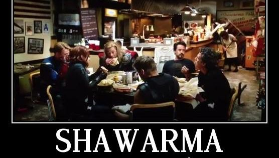 Shawarma: the Avengers approve.