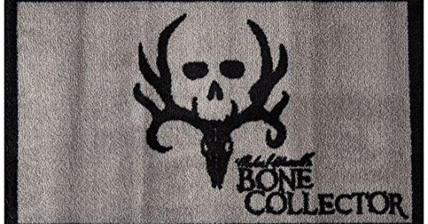 Kimlor Mills Bone Collector Bath Mat Black Bath Mat Wall Art