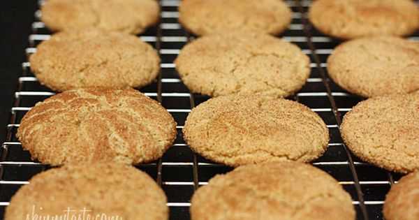Skinny Whole Wheat Snickerdoodle Cookies....only 50 calories (1 ww point per cookie)