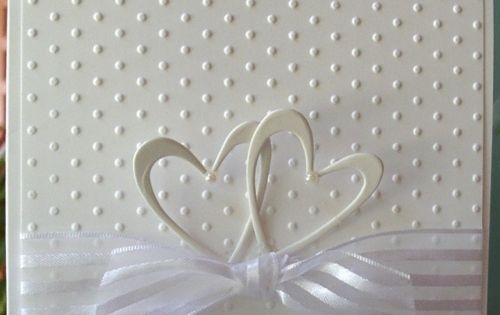 Simple elegance... wedding, anniversary. Could use silver heart embellishments and lightly colored