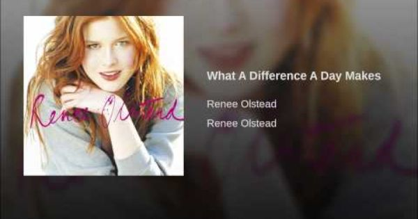 Renee Olstead What A Difference A Day Makes Sunday Kind Of Love Renee Olstead Slow Boat To China
