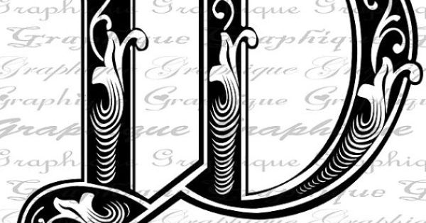 engraving letter templates - letter initial w monogram old engraving style type by