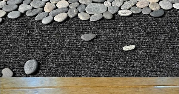 DIY Pebble mats can be made into table runners, place mats, trivets,