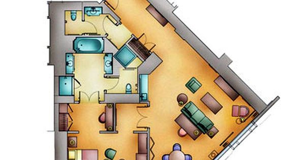 Floor Plan Of The Rialto Suite At The Venetian Macao Casino Resort