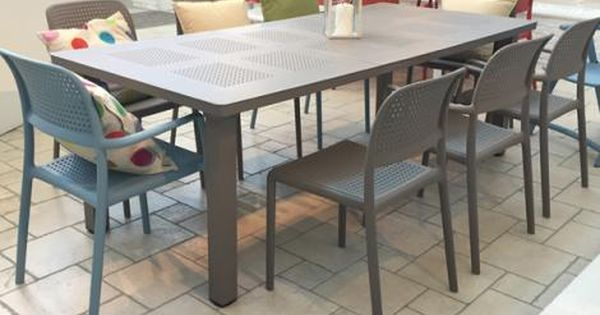 Nardi Bora Libeccio 9 Piece Dining Setting Outdoor Dining Settings Furniture Outdoor Furniture Sets Interior Design