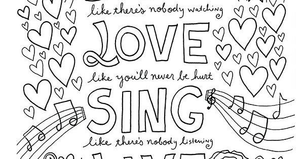 Dance love sing live ausmalbilder pinterest for I love dance coloring pages