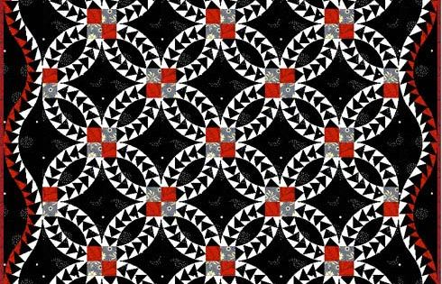Red And Black Pickle Dish Quilt Pickling Dishes And Ring