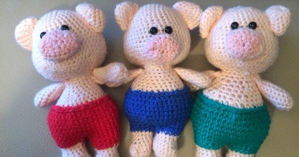 Amigurumi Schildkrote : De drie biggetjes #sprookjes#selfmade#haken Selfmade ? ...