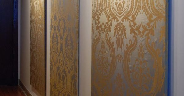 Clip Frames Fabric Wall Panel : Diy fabric wall panels art