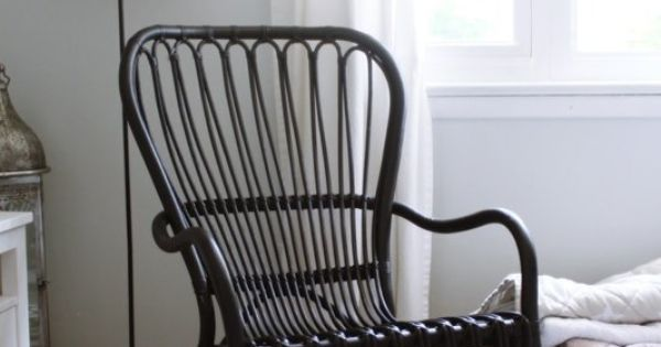 Ikea Storsele Black Rattan Chair Rattan Vintage Modern Living Room