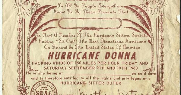 Hurricane Donna 1960 I Don T Know If There Are Many Of