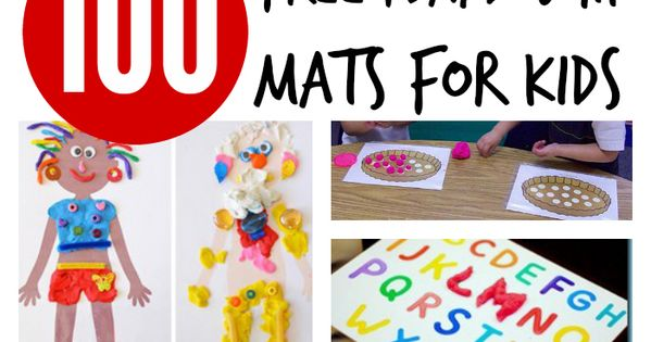 100 Free Playdough Mats for Kids. Practice shapes, alphabet letters, numbers... and