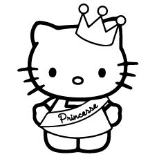 Top 30 Free Printable Crown Coloring Pages Online Hello Kitty