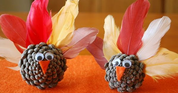 Pinterest Preschool Turkey Crafts | Preschool Crafts for Kids*: Thanksgiving Turkey Pine