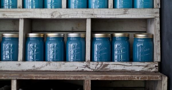 Painted Mason jars as art: Emily Henderson — Stylist - BLOG -