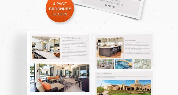 luxury brochure template - luxury real estate bi fold brochure luxury real estate