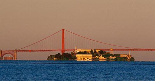 California San Francisco Bay Golden Gate Bridge And Alcatraz