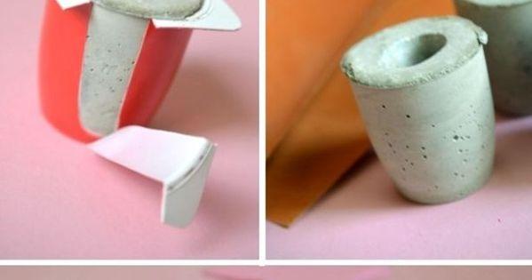 Eenvoudig idee om een kandelaar te maken creative pinterest concrete craft and manualidades - Om een e b e bbinnenkap te creeren ...