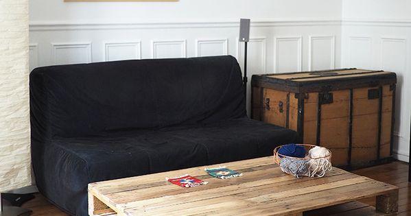Comment faire une table basse avec des palettes palette - Comment transformer une palette en table basse ...
