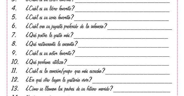Preguntas para conocer a personas