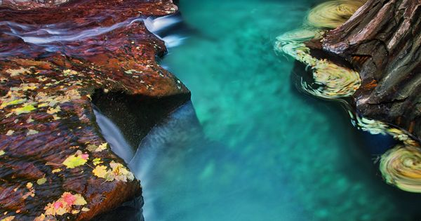 Emerald pool at Subway, Zion National Park, Utah. Adding visiting here to