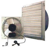 greenhouse shutter fan swamp cooler