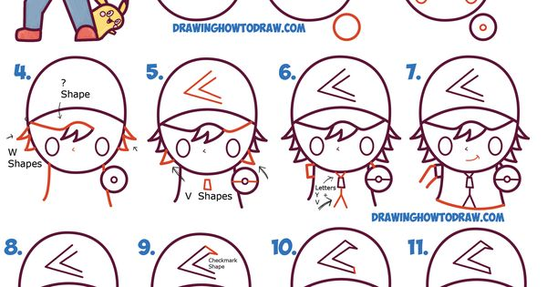 how to draw pikachu for beginners