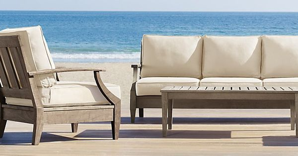 Santa monica weathered teak restoration hardware the for Restoration hardware teak outdoor furniture