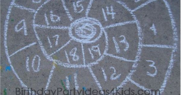 30 sidewalk chalk activities