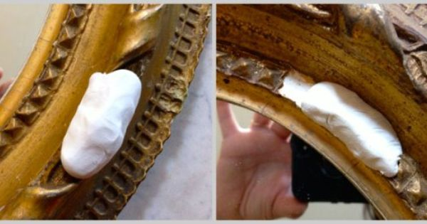 Using Clay To Fix Broken Molding On Frames Or Mirrors