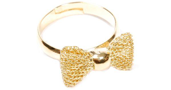Corner des createurs fishnet bow ring decorate - Corner des createurs ...