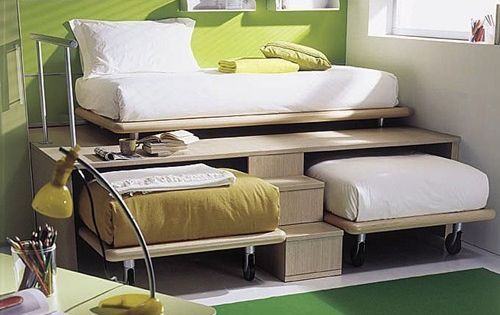 3 twin beds in the space of 1 – and nobody is