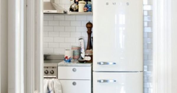 The Smeg fridge is cool, but I especially love the floor to