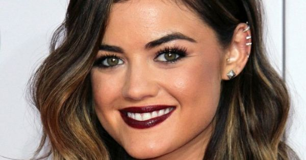 Lucy Hale's Shoulder Length Ombré Long Bob Haircut. One
