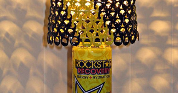 Rockstar Energy Can Lamp With Black and Yellow by ...