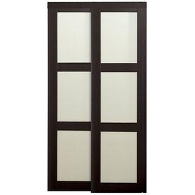 Shop Reliabilt Mdf Sliding Closet Door With Hardware Common 48 In X 80 In Actual 48 In X 78 6875 In Sliding Closet Doors Sliding Doors Interior Reliabilt