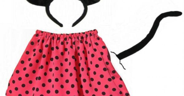 Stroj Myszka Miki Myszki Minnie Opaska Przebranie 4061365915 Oficjalne Archiwum Allegro Fashion Cheer Skirts Skater Skirt