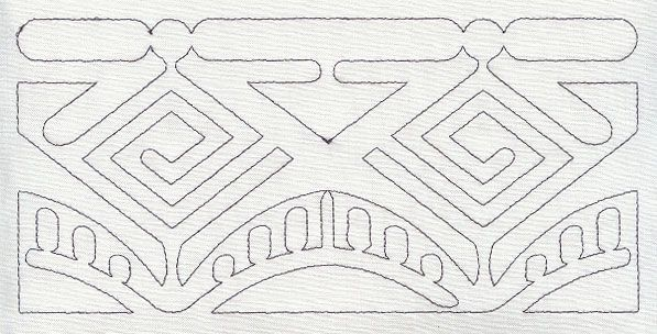 quilting boarder designs ... Designs at Embroidery Library! - Mola Geometric Quilting Border ...