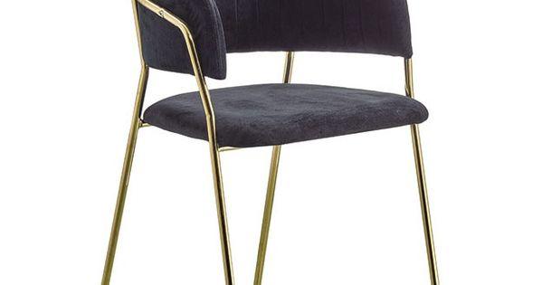 Krzeslo Do Jadalni Imogen Szare Zlote Welur Nowoczesne Metal