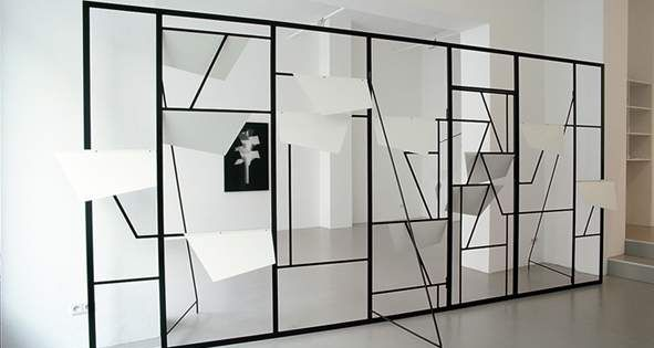 martin boyce concrete autumn exhibition in. Black Bedroom Furniture Sets. Home Design Ideas