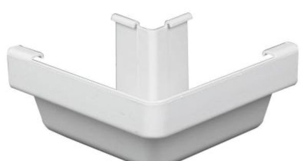 Amerimax Home Products White Vinyl K Style Outside Corner M0503 White Vinyl Home Depot Gutter Accessories