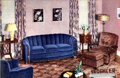 Living Room In The 1930 S Google Search Stage Design