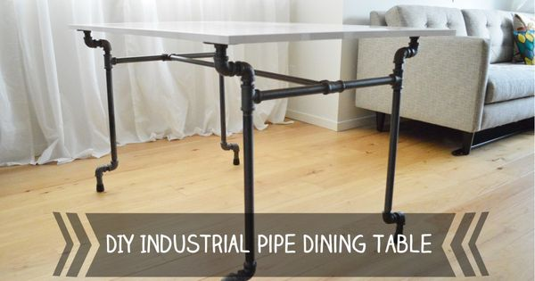 DIY Industrial Pipe Dining Table with Ikea Torsby Top  : 81095b361127a9592487f8bb133bb428 from www.pinterest.com size 600 x 315 jpeg 30kB