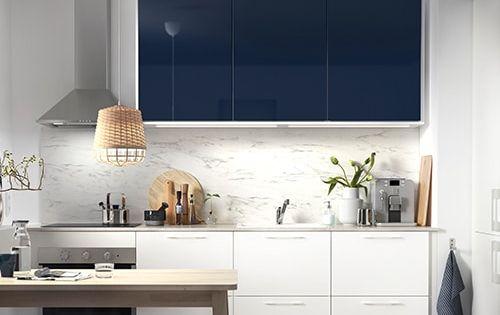Jarsta Porte Brillant Bleu Noir 60x80 Cm Ikea Meuble Cuisine Meuble Cuisine Pas Cher Mobilier De Salon