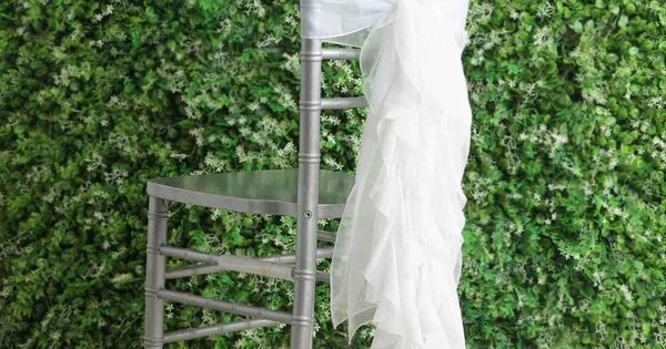 1 Set White Premium Designer Curly Willow Chiffon Chair