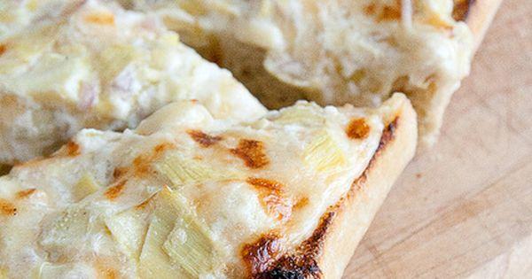 Killer Artichoke Bread from the Secret Recipe Club. MmmmHmmm.