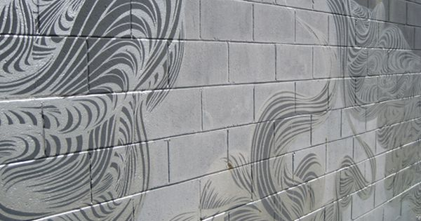 some of the best random cinder block wall painting i have seen - Cinder Block Wall Design
