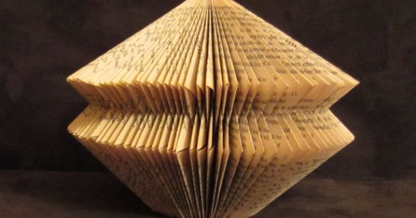This Book sculpture is folded of the book Harry Potter and the