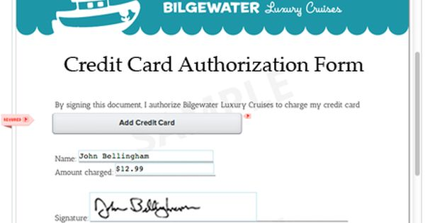 Credit Card Authorization Form Template Approving Charges using - credit card authorization forms