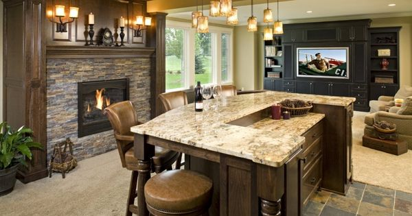 Family Entertainment Room Remodels Galley By Lecy Brothers